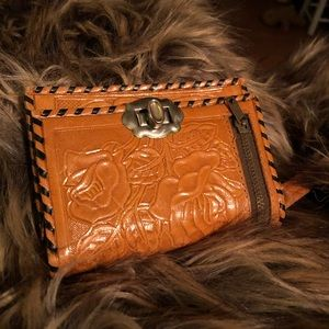 Hand Tooled Leather BiFold Wallet